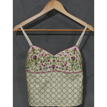 Tuto embroidered bustier